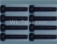 Wltoys 10428-2 Parts-Cup head inner hexagon Screws-M2.5X20-(8pcs),Wltoys 10428-2 Rc Car Parts,High speed 1:10 Scale 4wd,10428-B2 Electric Power On Road Drift Racing Truck Car Parts