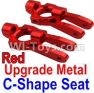 Wltoys 10428-A Parts-Upgrade Metal C-Shape Seat-Red-2pcs,Wltoys 10428-A Rc Car Parts,High speed 1:10 Scale 4wd,10428-A Electric Power On Road Drift Racing Truck Car Parts