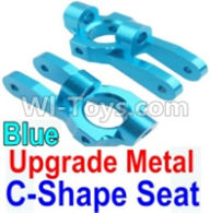 Wltoys 10428-A Parts-Upgrade Metal C-Shape Seat-Blue-2pcs,Wltoys 10428-A Rc Car Parts,High speed 1:10 Scale 4wd,10428-A Electric Power On Road Drift Racing Truck Car Parts