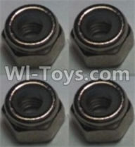 Wltoys 10428-A Parts-M2.5 Locknut(4pcs),Wltoys 10428-A Rc Car Parts,High speed 1:10 Scale 4wd,10428-A Electric Power On Road Drift Racing Truck Car Parts