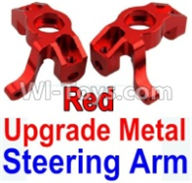 Wltoys 10428-A Parts-Upgrade Metal Steering arm-Red-2pcs,Wltoys 10428-A Rc Car Parts,High speed 1:10 Scale 4wd,10428-A Electric Power On Road Drift Racing Truck Car Parts