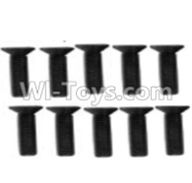 Wltoys 10428-A Parts-A929-61 Countersunk head inner hexagon Screws-M3X12-Black zinc plated(10PCS) For Wltoys K949 Rc Car Parts,High speed 1:10 Scale 4wd Racing Truck Car Parts