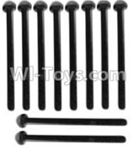 Wltoys 10428-A Parts-A929-72 Pan head inner hexagon Screws-M3X21-Black zinc plated(10PCS),Wltoys 10428-A Rc Car Parts,High speed 1:10 Scale 4wd,10428-A Electric Power On Road Drift Racing Truck Car Parts