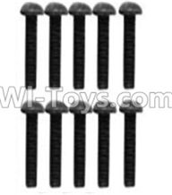 Wltoys 10428-A Parts-A929-75 Pan head inner hexagon Screws-M3X10-Black zinc plated(10PCS),Wltoys 10428-A Rc Car Parts,High speed 1:10 Scale 4wd,10428-A Electric Power On Road Drift Racing Truck Car Parts