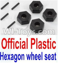 Wltoys 10428-A Parts-Official Plastic 12MM Hexagon wheel seat,Tire adapter(4pcs),Wltoys 10428-A Rc Car Parts,High speed 1:10 Scale 4wd,10428-A Electric Power On Road Drift Racing Truck Car Parts