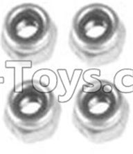 Wltoys 10428-A Parts-A929-95 M3 Locknut(4PCS),Wltoys 10428-A Rc Car Parts,High speed 1:10 Scale 4wd,10428-A Electric Power On Road Drift Racing Truck Car Parts
