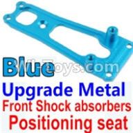 Wltoys 10428-A Parts-Upgrade Metal Front Shock absorbers Positioning seat-Blue,Wltoys 10428-A Rc Car Parts,High speed 1:10 Scale 4wd,10428-A Electric Power On Road Drift Racing Truck Car Parts