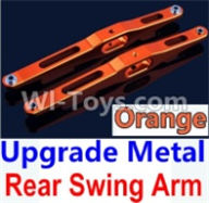 Wltoys 10428-A Parts-Upgrade Metal Rear Swing Arm-Orange-2pcs,Wltoys 10428-A Rc Car Parts,High speed 1:10 Scale 4wd,10428-A Electric Power On Road Drift Racing Truck Car Parts