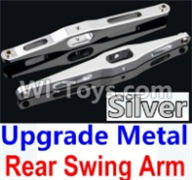 Wltoys 10428-A Parts-Upgrade Metal Rear Swing Arm-Silver-2pcs,Wltoys 10428-A Rc Car Parts,High speed 1:10 Scale 4wd,10428-A Electric Power On Road Drift Racing Truck Car Parts