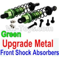 Wltoys 10428-A Parts-Upgrade Metal Front Shock Absorbers(2pcs)-Green,Wltoys 10428-A Rc Car Parts,High speed 1:10 Scale 4wd,10428-A Electric Power On Road Drift Racing Truck Car Parts