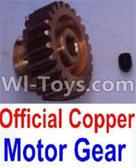 Wltoys 10428-A Parts-Official Copper Motor Gear,Wltoys 10428-A Rc Car Parts,High speed 1:10 Scale 4wd,10428-A Electric Power On Road Drift Racing Truck Car Parts