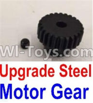 Wltoys 10428-A Parts-Upgrade Steel Motor Gear,Wltoys 10428-A Rc Car Parts,High speed 1:10 Scale 4wd,10428-A Electric Power On Road Drift Racing Truck Car Parts