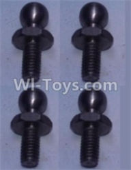 Wltoys 10428-A Parts-4.8 Ball head shape screws(4pcs),Wltoys 10428-A Rc Car Parts,High speed 1:10 Scale 4wd,10428-A Electric Power On Road Drift Racing Truck Car Parts