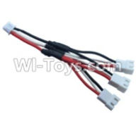 Wltoys 10428-A Parts-Upgrade 1-to-3 coversion Charging cable(1pcs),Wltoys 10428-A Rc Car Parts,High speed 1:10 Scale 4wd,10428-A Electric Power On Road Drift Racing Truck Car Parts