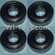 Wltoys 10428-A Parts-Bearing(5X13X4)-4pcs,Wltoys 10428-A Rc Car Parts,High speed 1:10 Scale 4wd,10428-A Electric Power On Road Drift Racing Truck Car Parts