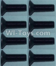 Wltoys 10428-A Parts-Flat head inner hexagon Screws-M3X10-(8pcs),Wltoys 10428-A Rc Car Parts,High speed 1:10 Scale 4wd,10428-A Electric Power On Road Drift Racing Truck Car Parts
