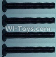Wltoys 10428-A Parts-Flat head inner hexagon Screws-M4X32-(4pcs),Wltoys 10428-A Rc Car Parts,High speed 1:10 Scale 4wd,10428-A Electric Power On Road Drift Racing Truck Car Parts