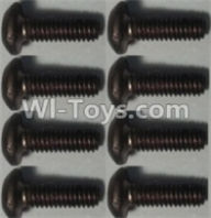 Wltoys 10428-A Parts-Pan head inner hexagon Screws-M2.5X6-(8pcs),Wltoys 10428-A Rc Car Parts,High speed 1:10 Scale 4wd,10428-A Electric Power On Road Drift Racing Truck Car Parts