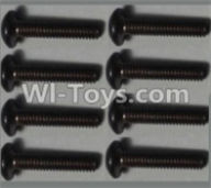 Wltoys 10428-A Parts-Pan head inner hexagon Screws-M2.5X12-(8pcs),Wltoys 10428-A Rc Car Parts,High speed 1:10 Scale 4wd,10428-A Electric Power On Road Drift Racing Truck Car Parts