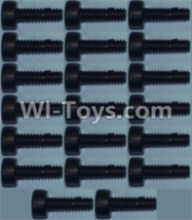 Wltoys 10428-A Parts-Cup head inner hexagon Screws M2X6-(20pcs),Wltoys 10428-A Rc Car Parts,High speed 1:10 Scale 4wd,10428-A Electric Power On Road Drift Racing Truck Car Parts