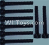 Wltoys 10428-A Parts-Cup head inner hexagon Screws-M2X16-(8pcs),Wltoys 10428-A Rc Car Parts,High speed 1:10 Scale 4wd,10428-A Electric Power On Road Drift Racing Truck Car Parts