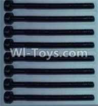 Wltoys 10428-A Parts-Cup head inner hexagon Screws-M2X24(8pcs),Wltoys 10428-A Rc Car Parts,High speed 1:10 Scale 4wd,10428-A Electric Power On Road Drift Racing Truck Car Parts