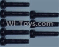Wltoys 10428-A Parts-Cup head inner hexagon Screws-M2.5X12-(8pcs),Wltoys 10428-A Rc Car Parts,High speed 1:10 Scale 4wd,10428-A Electric Power On Road Drift Racing Truck Car Parts