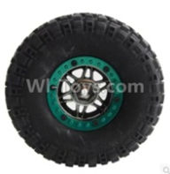 Wltoys 10428-B Parts-Whole wheel unit(1pcs)-(Inlucde the Wheel Hub,Tire lether,Tire positioning ring)-(Diameter-110mm,Thickness-35mm,12mm hexagonal engagement)