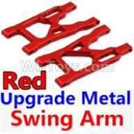Wltoys 10428-B Parts-Upgrade Metal Swing Arm-Red-2pcs,Wltoys 10428-B Rc Car Parts,High speed 1:10 Scale 4wd,10428-B Electric Power On Road Drift Racing Truck Car Parts