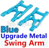 Wltoys 10428-B Parts-Upgrade Metal Swing Arm-Blue-2pcs,Wltoys 10428-B Rc Car Parts,High speed 1:10 Scale 4wd,10428-B Electric Power On Road Drift Racing Truck Car Parts