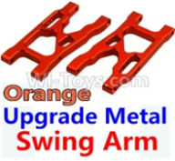 Wltoys 10428-B Parts-Upgrade Metal Swing Arm-Orange-2pcs,Wltoys 10428-B Rc Car Parts,High speed 1:10 Scale 4wd,10428-B Electric Power On Road Drift Racing Truck Car Parts