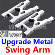Wltoys 10428-B Parts-Upgrade Metal Swing Arm-Silver-2pcs,Wltoys 10428-B Rc Car Parts,High speed 1:10 Scale 4wd,10428-B Electric Power On Road Drift Racing Truck Car Parts