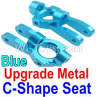 Wltoys 10428-B Parts-Upgrade Metal C-Shape Seat-Blue-2pcs,Wltoys 10428-B Rc Car Parts,High speed 1:10 Scale 4wd,10428-B Electric Power On Road Drift Racing Truck Car Parts