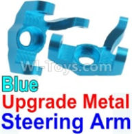 Wltoys 10428-B Parts-Upgrade Metal Steering arm-Blue-2pcs,Wltoys 10428-B Rc Car Parts,High speed 1:10 Scale 4wd,10428-B Electric Power On Road Drift Racing Truck Car Parts