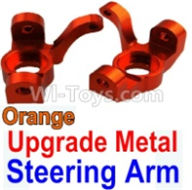 Wltoys 10428-B Parts-Upgrade Metal Steering arm-Orange-2pcs,Wltoys 10428-B Rc Car Parts,High speed 1:10 Scale 4wd,10428-B Electric Power On Road Drift Racing Truck Car Parts