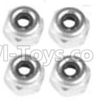 Wltoys 10428-B Parts-A929-94 M4 Locknut(4PCS),Wltoys 10428-B Rc Car Parts,High speed 1:10 Scale 4wd,10428-B Electric Power On Road Drift RacinAg Truck Car Parts