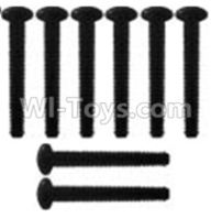 Wltoys 10428-B Parts-K939-62 Pan head inner hexagon Screws-M3X21-Black zinc plated-M3X25(8PCS),Wltoys 10428-B Rc Car Parts,High speed 1:10 Scale 4wd,10428-B Electric Power On Road Drift Racing Truck Car Parts