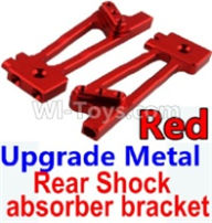 Wltoys 10428-B Parts-Upgrade Metal Rear Shock absorber bracket-Red-2pcs,Wltoys 10428-B Rc Car Parts,High speed 1:10 Scale 4wd,10428-B Electric Power On Road Drift Racing Truck Car Parts