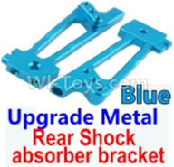 Wltoys 10428-B Parts-Upgrade Metal Rear Shock absorber bracket-Blue-2pcs,Wltoys 10428-B Rc Car Parts,High speed 1:10 Scale 4wd,10428-B Electric Power On Road Drift Racing Truck Car Parts