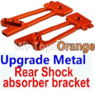 Wltoys 10428-B Parts-Upgrade Metal Rear Shock absorber bracket-Orange-2pcs,Wltoys 10428-B Rc Car Parts,High speed 1:10 Scale 4wd,10428-B Electric Power On Road Drift Racing Truck Car Parts