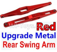 Wltoys 10428-B Parts-Upgrade Metal Rear Swing Arm-Red-2pcs,Wltoys 10428-B Rc Car Parts,High speed 1:10 Scale 4wd,10428-B Electric Power On Road Drift Racing Truck Car Parts
