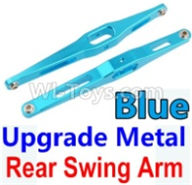 Wltoys 10428-B Parts-Upgrade Metal Rear Swing Arm-Blue-2pcs,Wltoys 10428-B Rc Car Parts,High speed 1:10 Scale 4wd,10428-B Electric Power On Road Drift Racing Truck Car Parts