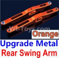 Wltoys 10428-B Parts-Upgrade Metal Rear Swing Arm-Orange-2pcs,Wltoys 10428-B Rc Car Parts,High speed 1:10 Scale 4wd,10428-B Electric Power On Road Drift Racing Truck Car Parts