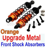 Wltoys 10428-B Parts-Upgrade Metal Front Shock Absorbers(2pcs)-Orange,Wltoys 10428-B Rc Car Parts,High speed 1:10 Scale 4wd,10428-B Electric Power On Road Drift Racing Truck Car Parts