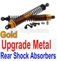 Wltoys 10428-B Parts-Upgrade Metal Rear Shock Absorbers(2pcs)-Gold,Wltoys 10428-B Rc Car Parts,High speed 1:10 Scale 4wd,10428-B Electric Power On Road Drift Racing Truck Car Parts