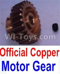 Wltoys 10428-B Parts-Official Copper Motor Gear,Wltoys 10428-B Rc Car Parts,High speed 1:10 Scale 4wd,10428-B Electric Power On Road Drift Racing Truck Car Parts