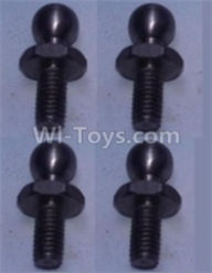 Wltoys 10428-B Parts-4.8 Ball head shape screws(4pcs),Wltoys 10428-B Rc Car Parts,High speed 1:10 Scale 4wd,10428-B Electric Power On Road Drift Racing Truck Car Parts