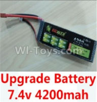 Wltoys 10428-B Parts-Upgrade 7.4v 4200mah battery with T-shape plug,Wltoys 10428-B Rc Car Parts,High speed 1:10 Scale 4wd,10428-B Electric Power On Road Drift Racing Truck Car Parts