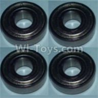 Wltoys 10428-B Parts-Bearing(5X13X4)-4pcs,Wltoys 10428-B Rc Car Parts,High speed 1:10 Scale 4wd,10428-B Electric Power On Road Drift Racing Truck Car Parts