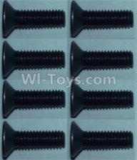 Wltoys 10428-B Parts-Flat head inner hexagon Screws-M3X10-(8pcs),Wltoys 10428-B Rc Car Parts,High speed 1:10 Scale 4wd,10428-B Electric Power On Road Drift Racing Truck Car Parts